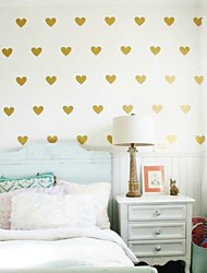 JiuBai® Gold Heart Wall Sticker Wall Decal,7CM/Heart, 36Heart/Set