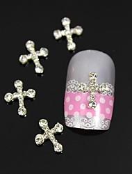 10pcs strass passage 3d art alliage de décoration des ongles