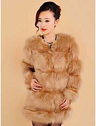 la moda de manga larga abrigo de piel de las mujeres de la PU&abrigo de piel delgada de piel (más colores)