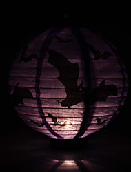 Purple Bats Pattern Lantern Holloween Decoration(Bulb Excluded)