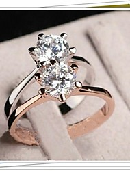 Women's  Hot  Selling Fashion Simple White Zircon Ring  J1666