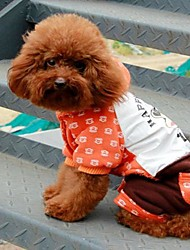 High Quality Orange Big Mouth Sailor Siamese Trousers  for Pets Dog Assorted Size for Pets Dog