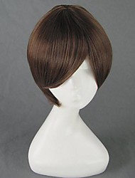 Cosplay Wigs Cosplay Haruhi Fujioka Brown Short Anime Cosplay Wigs 35 CM Heat Resistant Fiber Male