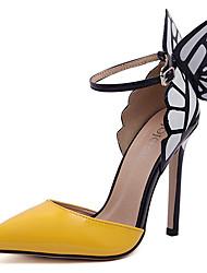 Женская обувь - Pumps/Heels ( PU , Лиловый/Желтый ) Высокий тонкий каблук - 10-12см