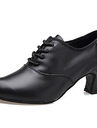 Modern Women's Heels Low Heel Leather with Lace-up Dance Shoes(More Colors)