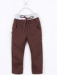 del muchacho de la manera de ocio todos los pantalones de bolsillo carta partido algodón