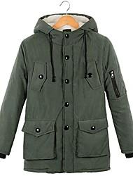 мужская с капюшоном добавить шерсти теплое пальто