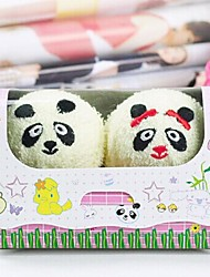 Birthday Gift Panda Shape Fiber Creative Towel (Random Color)(2 PCS/Set)