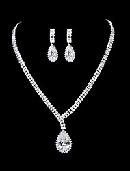 Women's Platinum Jewelry Set Cubic Zirconia
