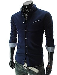 Men's Leisure Business Long Sleeve Slim Shirt