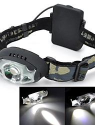 Pange Water-proof Cree-XPE 200lm 3-Modes 3-LED Cold White Light Headlamp - Black (3 x AA)