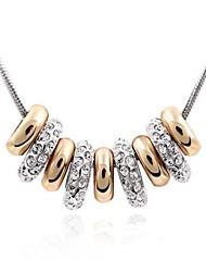 cadeia da felicidade elegante colar curto revestida com 18k platina verdade clara cristalizado strass cristal austríaco
