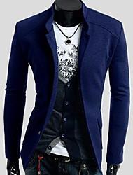 slim stand color puro chaqueta de los hombres