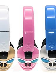 casque 3,5 mm bluetooth sur l'oreille salut-fi avec fente pour carte TF pliable avec microphone pour les téléphones