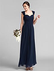 LAN TING BRIDE Floor-length Chiffon Bridesmaid Dress - Sheath / Column Sweetheart Plus Size / Petite