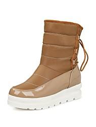 botas de los zapatos de nieve de las mujeres acuñan botas del tobillo de tacón con cordones más colores disponibles
