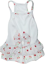 Dog / Cat Dress White Spring/Fall Bowknot / Fruit Wedding