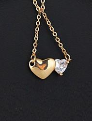 взаимная близость дизайн циркон 18k золотое покрытие ожерелье женщин