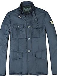 col montant de la mode à manches longues veste d'hiver en plein air des hommes