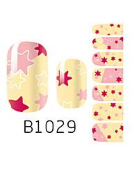 yemannvyou®14pcs Mode Sechseck-Muster-Nagelkunst Glitzer Sticker B1029