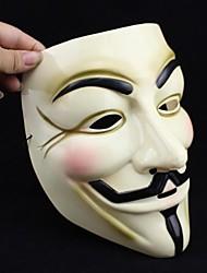 Popular Yellow V for Vendetta Plastic Mask for Halloween