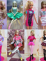 8 Pieces Uniform Temptation Style Barbie Doll Elegant Princess Costume