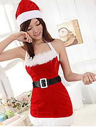 Sexy Girl Red Velvet Santa Baby Costume di Natale