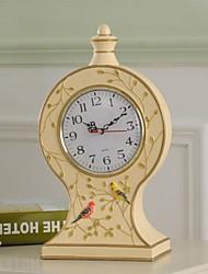 "haoxinyi® 13 ""h artigianale da giardino moderno in resina stile uccelli felici orologio desktop"