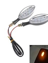 moto led 2w 112lm 17-led segnali luminosi di direzione / luci di freno del motociclo di colore giallo