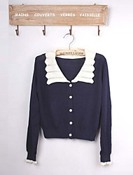 Women's Turn Down Collar Patchwork Cotton Cardigans (More Colors)
