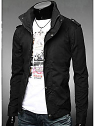 Men'S Stand Collar Washed Jacket