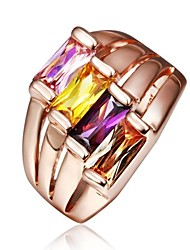 Fashion Women Rose Gold Zircon Fashion Rings(Rose Gold)(1Pcs)