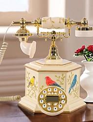 haoxinyi® style de jardin moderne nouveauté oiseaux heureux polyrésine téléphone à la maison avec l'affichage d'identification