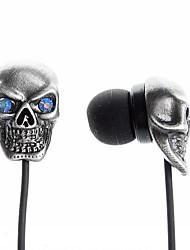 eng stijl schedel in-ear oortelefoon voor iPhone 6 iphone 6 plus
