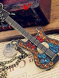 millésime chaîne de chandail de guitare de femmes