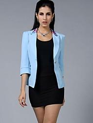 три четверти рукав единственная кнопка тонкий пиджак женская