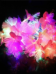 20-главе 4м водонепроницаемый Новогоднее украшение красочные цветы RGB света свет шнура СИД (220)