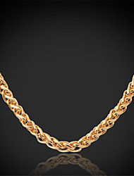TopGold All Match Twisted Link Chain Necklace