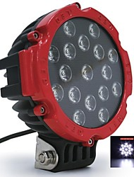 "Liancheng® 6.3"" 51W 5100Lumens Super Bright LED Work Light for Off-road,Tractor,UTV,ATV,SUV"