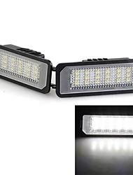 2 blanco 18 llevó 3528 luces de placas SMD licencia número del bulbo de lámpara de polo de vw lupo