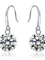 Women's Drop Earrings Costume Jewelry Sterling Silver Zircon Cubic Zirconia Jewelry For