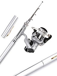 Meiyu ® Pocket Pen Aluminum Alloy Fishing Rod Pole Reel Combos With HIG2000 Reel 50m lines H3 1m