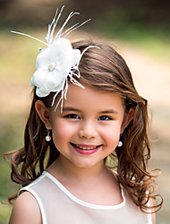 Women's / Flower Girl's Feather Headpiece-Wedding / Special Occasion Flowers