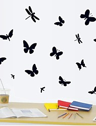 pared calcomanías pegatinas de pared, mariposa libélula Decoración PVC pegatinas de pared