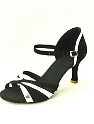 Customized Women's Leatherette / Satin Ankle Strap Latin / Ballroom Dance Performance Shoes
