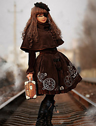 infanta veludo lolita na altura do joelho vestido gothic lolita
