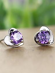 Weiyinyuan Vintage Sterling Silver Crystal Rhinestone  Earrings