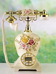 haoxinyi® nouveauté moderne téléphone à la maison Hampton jardin de style romantique rose polyrésine avec affichage id