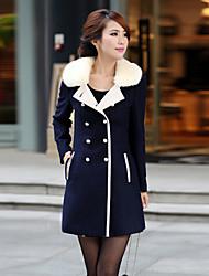 Women's Coats & Jackets , Wool Casual Qingyifang