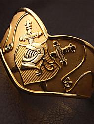 vindima cavaleiro legal manguito armet pulseira de ouro 18k verdadeiro robusto banhado manguito pulseira pulseiras para homens ou mulheres